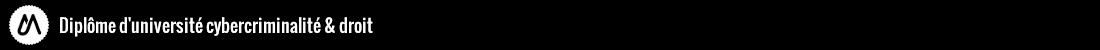 Diplôme d'Université Cybercriminalité Logo